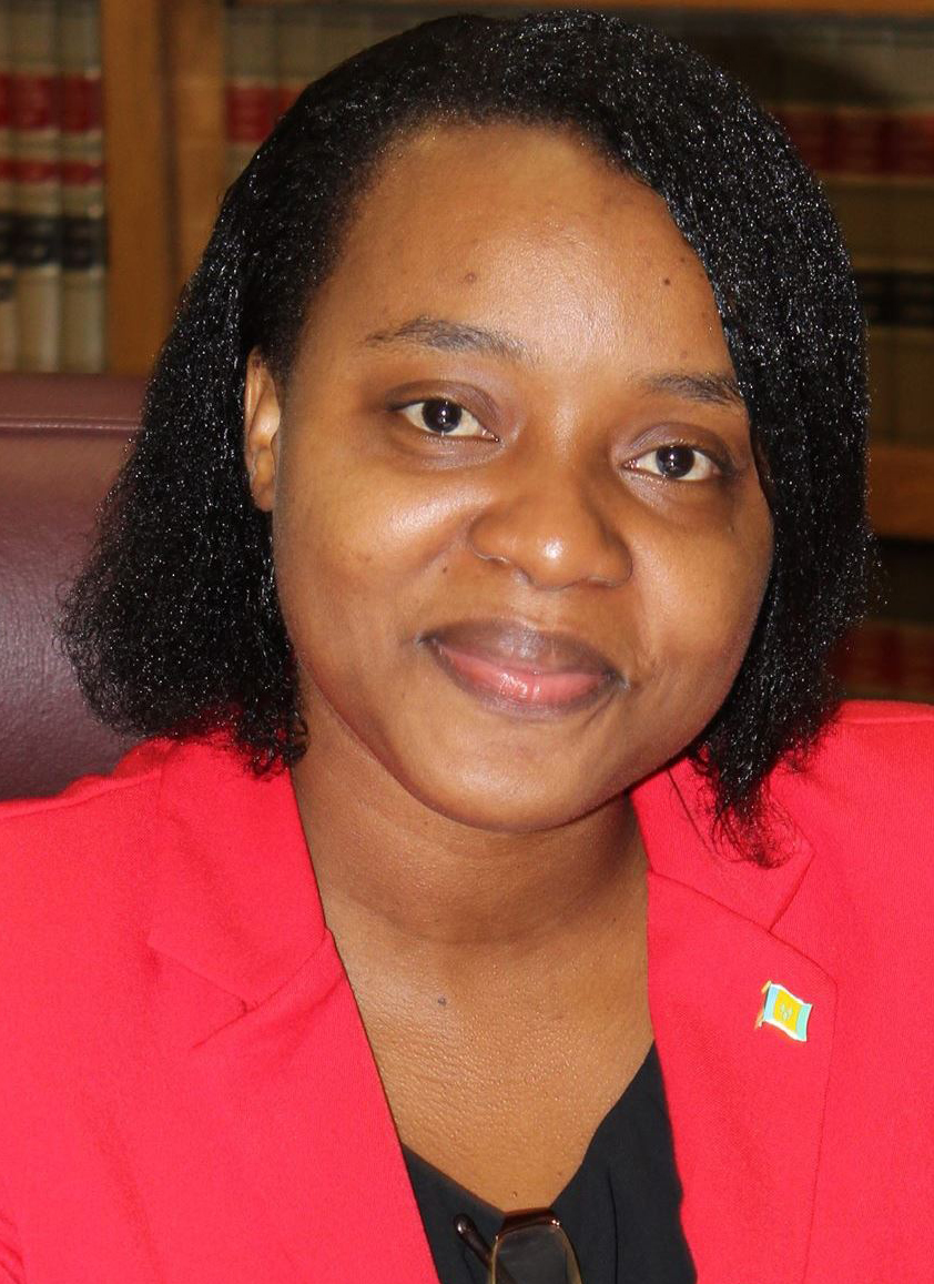 Anesia Baptiste, leader of the Democratic Republican Party.