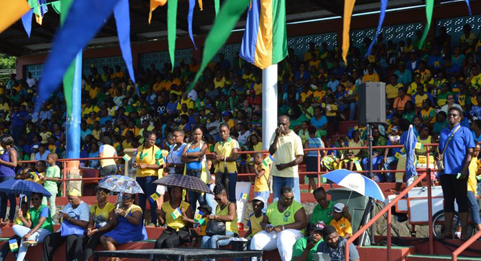 National colours and flags at the Independence Parade in Kingstown. (Photo: Duggie Nose/Facebook)