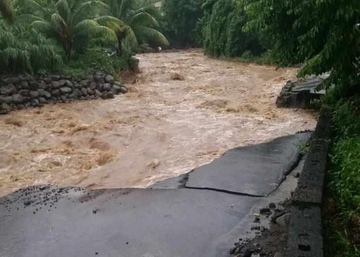 Some roads were impassable as result of the rains and floods.