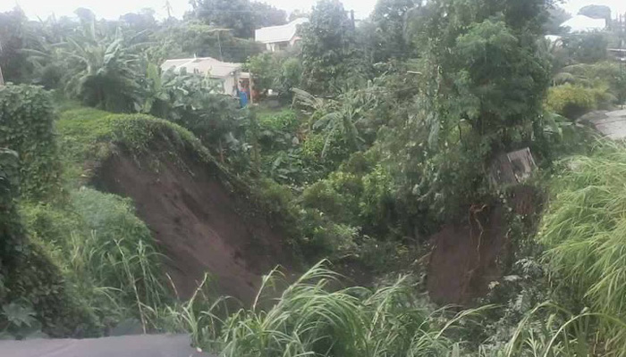 The heavy rainfall resulted in landslides across the country.