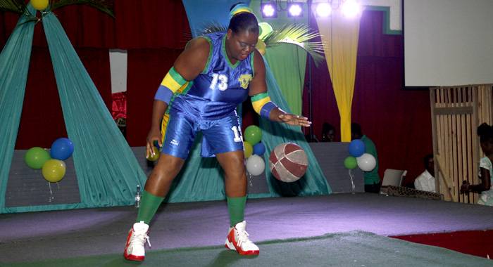 Renelda Solomon during the Sports Wear segment. (IWN photo)