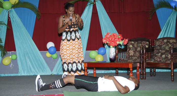 A scene from Nadisha Browne's talent presentation. (IWN photo)