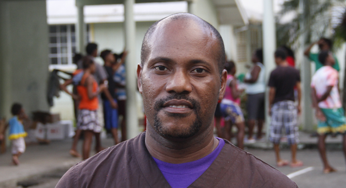 Owen Baptiste, one of the coordinators at the emergency shelter. (IWN Photo)