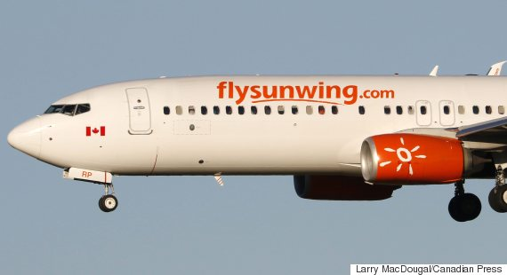 O Sunwing Airlines 570