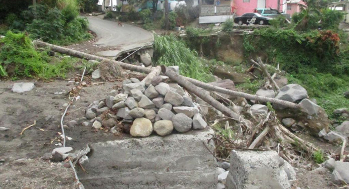 Another Section Of The Main Road Badly Damaged With A Lot Of Debris The Same As It Was 6 Months Ago Pt 2