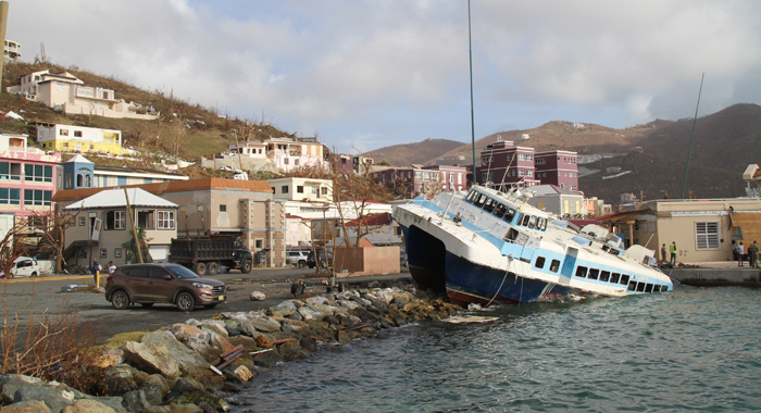 Hurricane Irma Has Caused Five Death And Extensive Damage In The British Virgin Islands. Cmc Photo
