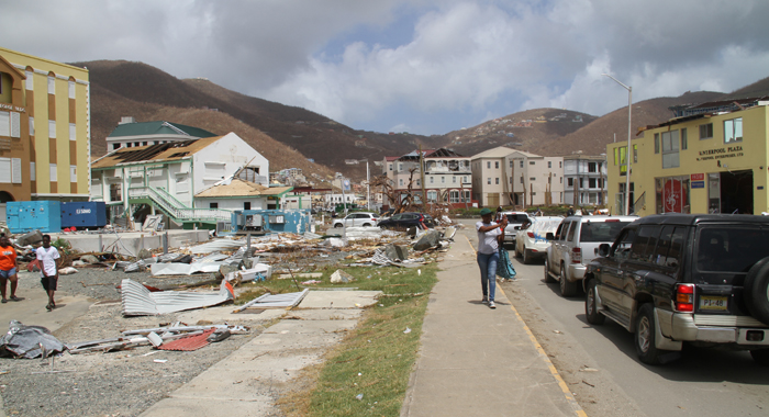 The Main Commercial District Was Also Severely Affected. Cmc Photo