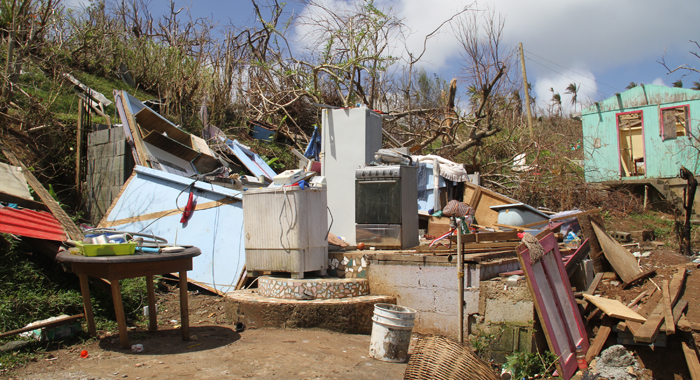 Hurricane Maria Left Significant Damage To Housing In Bataca In The Kalinago Territory And Other Areas Of Dominica. Cmc Photo