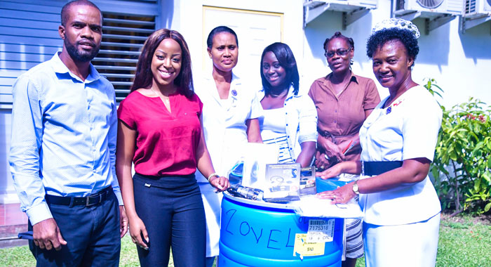 Students Hands Over Medical Supplies