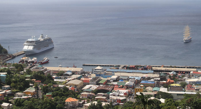 Cruise Ship In Kingstown