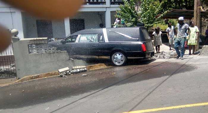 Crashed Hearse