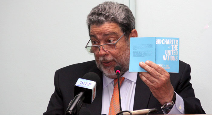 Ralph Gonsalves With Un Charter