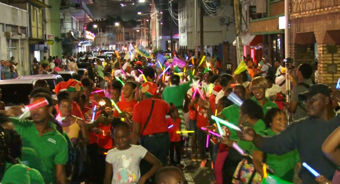 Christmas Parade In Kingstown