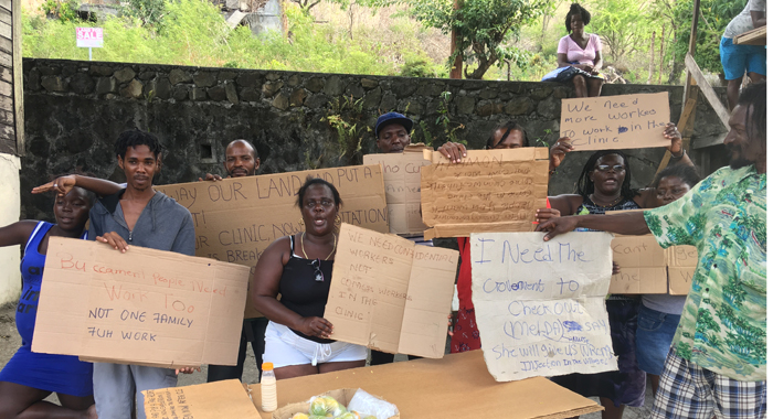 Buccament Protesters