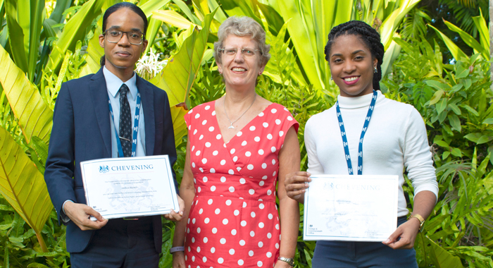 British High Commissioner Janet Douglas And St Vincent And The Grenadines Scholars