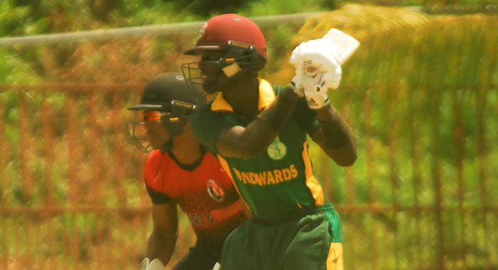 Kimani Melius Punches Through The Off Side For Another Boundary
