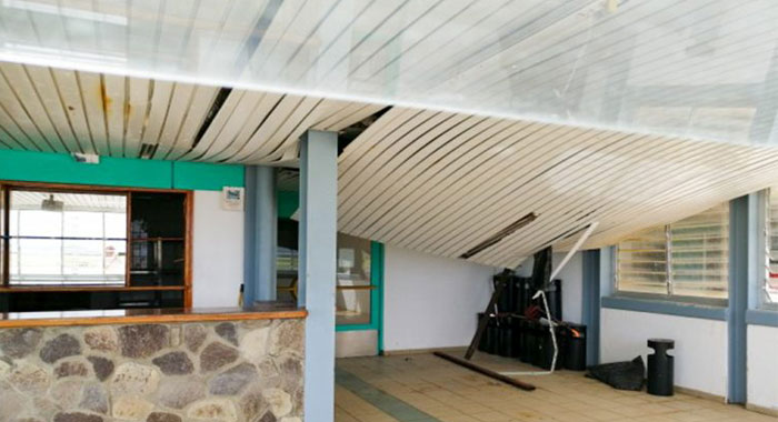 Bequia Airport Roof Collapse