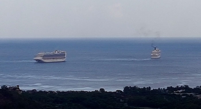 Cruise Ships Off Buccament Bay