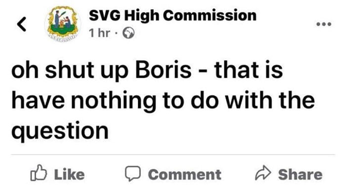 Svg High Commission Post