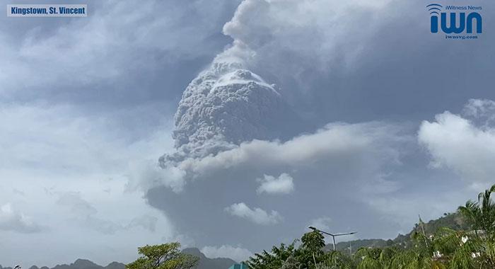 Erupts