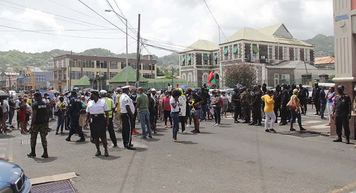 Protest In Kingstown